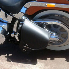 Harley Davidson Softail Black Leather Swingarm Saddle Bag Single Side Pannier