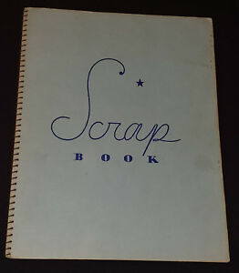 1960's SPORTS SCRAPBOOK with a couple trimmed card - HOCKEY, BASEBALL, FOOTBALL