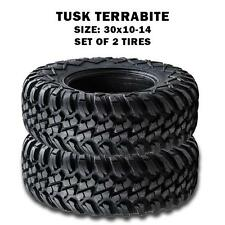 Tusk Terrabite  Radial Steel Belted All-Terrain ATV/UTV 30x10-14 Tires(Set of 2)