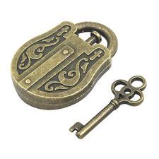 Vintage Metal Cast God Lock Key Puzzle Toy IQ EQ Mind Brain Teaser Kid Gift