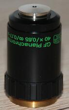 Zeiss Mikroskop Microscope Objektiv GF Planachromat 40x/0,65 Phv