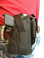 Nylon Belt & Clip Gun holster With Magazine Pouch Fits Glock 42 With Laser