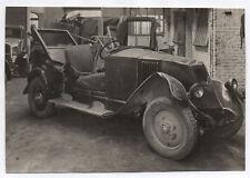 PHOTO ANCIENNE Auto Automobile Voiture Accidentée Accident Garage Détruite