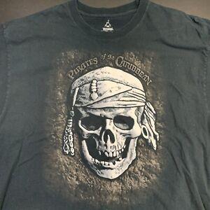 Men Disneyland Pirates Of The Caribbean Shirt Black 2XL Movie Johnny Depp Disney