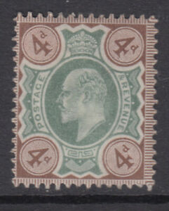 SG 235   4d  Green & Grey Brown M23 (1) in fine and fresh mounted mint condition