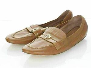 21-27 NEW $228 Women's Sz 9 M Tory Burch Jolie Leather Apron Toe Loafer Flats