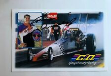 Gary Ormsby Jr Signed Autographed Redline Oil Dragster NHRA Photo Card N 591