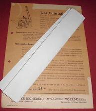 dachbodenfund alt sense prospekt blatt schnelldengler DRPa ischebeck voerde 1949