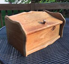 WOOD BREAD BOX Primitive Wooden Kitchen Farmhouse Shab Vintage Shelf Breadbox