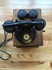 Antique Rare New England Telephone Wood Wall 1900's Beautiful Cond