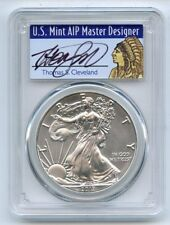 2017 (S) $1 American Silver Eagle Struck at SF PCGS MS70 Thomas Cleveland Native