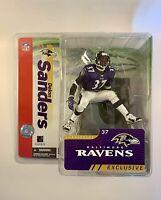 Deion Sanders Baltimore Ravens McFarlane Exclusive Figure NFL 2005 Prime Time