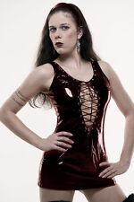 PVC Mini Dress + String in Black / PVC Sexy Dress +Thong in Black