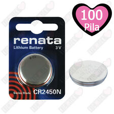 Batterie RENATA CR2450N Litio 3V Batteria A Bottone CR 2450N, 100 Pz