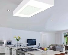 Silverline Albion T2 Stylish White Glass Ceiling Cooker Hood 1400m3/h Motor