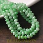 New 50pcs 6mm Glass With Color Coated Rondelle Faceted Loose Beads Bulk Green