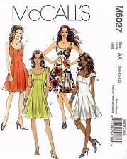McCall's Misses' Dress Pattern M6027 Size 6-12 UNCUT