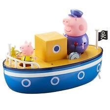 Baño de juguete Peppa Pig Abuelo Pig Figuras Play Diversión Niños Barco Flotador Agua Azul Nuevo