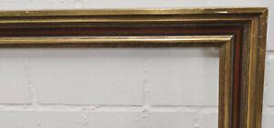 Holzrahmen gold braun Falzmaß ca. 67,8x90,9 cm