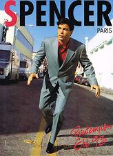 PUBLICITE ADVERTISING 045  1993  SPENCER  PARIS  pret à porter homme