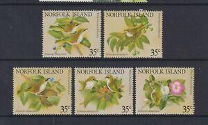 Norfolk Island - 1981, White Chested White-Eye Birds set - MNH - SG 269/73