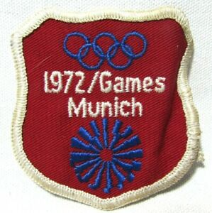 Vintage 1972 Summer Olympic Games Patch Munich West Germany XX Olympiad  NOS