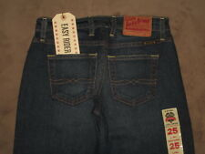 Lucky Brand Size 0 / 25 Easy Rider Long Relaxed Fit Boot Leg Dark Blue New NWT