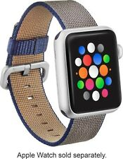 NEW Modal Apple Watch 38mm Woven Nylon Band Strap Navy Blue Tan Accessory