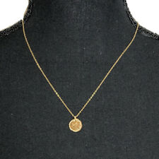 "Milor 14K Yellow Gold 18"" Necklace with Gold Rope Druzy Pendant"