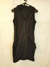 MNG Casual Sportswear Mango Dress Overall Cover up Sporty Black Hoodie XS XXS