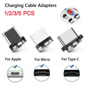 Magnetic Charging Cable Connector Plugs for iOS Android Type-C Micro USB Adaptor