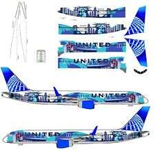 """United 757-200  """"New York"""" livery  airliner Decal 1:144 scale For Minicraft Kit"""