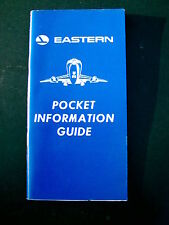 EASTERN AIRLINES POCKET INFORMATION GUIDE MAINTENANCE TRAINING BOOKLET FEB.1989