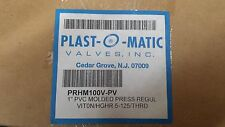 PLAST-O-MATIC PRHM100V-PV Pressure Regulator,1 In,5 to 125 psi new