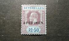 Seychelles #87 mint hinged SPECIMEN die II e205 9142