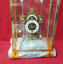 Wonderful Grasshopper Clock With Double Batons & Porcelain Dial-Front Door Case