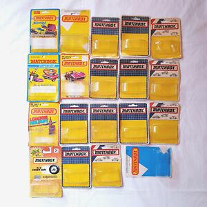 MATCHBOX SUPERFAST 19 x EMPTY CARDS, JOB LOT, MANY HUNGARIAN