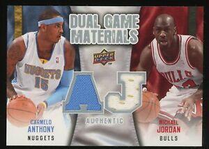 2009-10 Upper Deck Carmelo Anthony Michael Jordan Dual Game Jersey