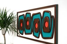 Mid-century modern wall sculpture - 1970s design