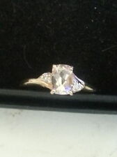 Unbranded Morganite Solitaire with Accents Fine Rings
