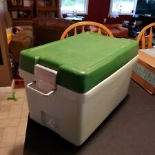 Vintage 2 Tone Green 1971 Coleman Cooler Manufactured 1971 in the USA