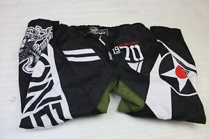 O'NEAL RACING ELEMENT WARHAWK PANTS WHITE / BLACK / GREEN SIZE 38