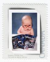 BABY BOY with BATMAN Comics = Picture Postage stamp MNH Canada 2012 p1b1