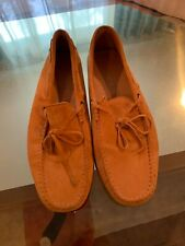 Tods Gommino Suede Loafers - UK 8 / US 9 - Pre-Owned - Great Condition (Orange)