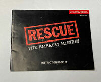 Rescue The Embassy Mission Nintendo Instruction Manual NES Booklet Only NO Game
