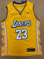 #23 LeBron James Los Angeles Lakers Men's Stitched YELLOW Jersey