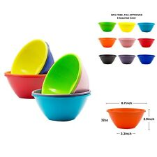 Plastic Cereal Soup Bowls Large 32 Ounce Microwave Safe Set Of 9 Assorted Colors