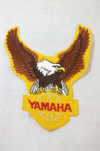Vtg LARGE 9 inch Yamaha Yellow Eagle Motorcycle Jacket Patch Sew On 1970s Denim