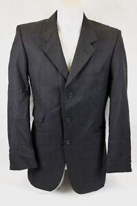 *38S* Roderick Charles Men's Dark Grey Three Button Wool Suit