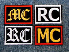 CUSTOM 2 LETTER PATCH BIKER MOTORCYCLE CAR CLUB MC RC CC MM LE FOR EXAMPLE